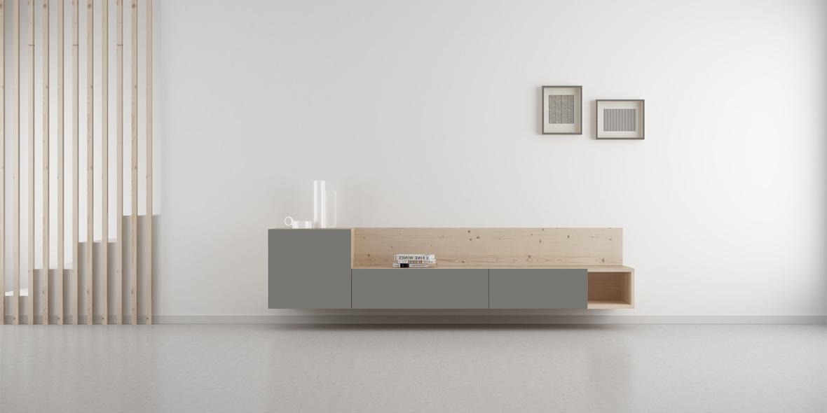 mueble salón gris