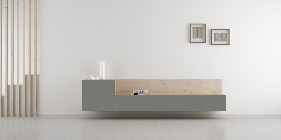 mueble salón nórdico
