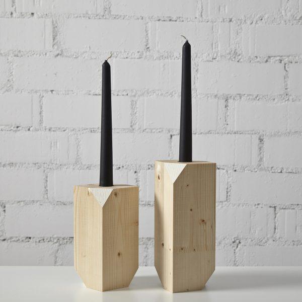 candelabro madera diseño