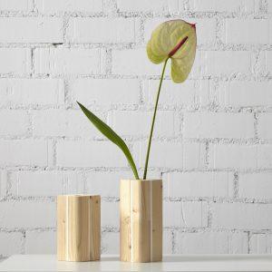 jarron madera ecologico