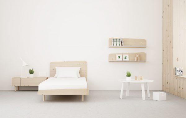 dormitorio juvenil en madera ecológica color natural
