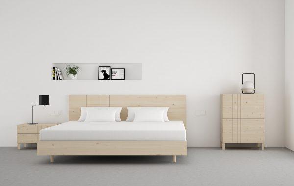 comoda 4 cajones de diseño exclusivo en madera escandinava