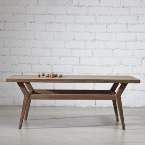 mesa de centro madera de nogal maciza diseño exclusivo